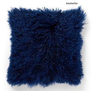 New West Elm Mongolian Fur Pillow